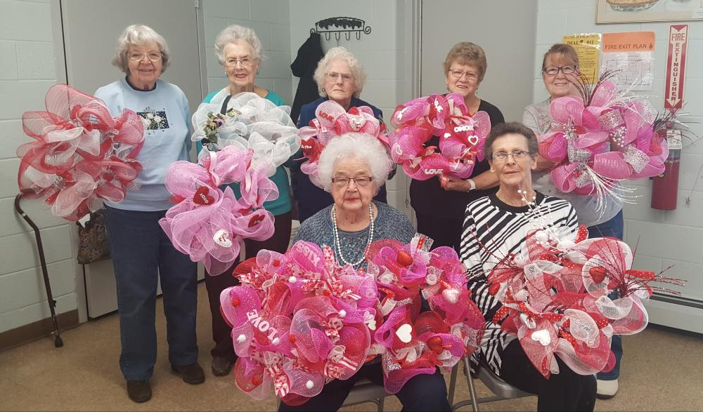 Corry Senior Center Wreath Making Class